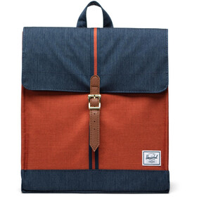 Herschel City Mid-Volume Backpack 14l, indigo denim/picante crosshatch/tan